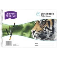 Derwent Academy Sketch Book A4 Landscape - 20 Sheets - 5 Pack