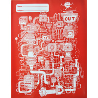Spencil Book Jacket Scrap Book Pack 6 - Red Maze