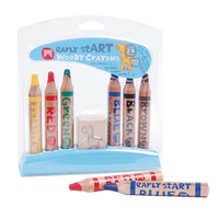 Micador Crayons Early Start Woody 6's + Sharpener