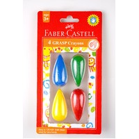 Faber-Castell Grasp Crayon 4 Pack For Small Hands
