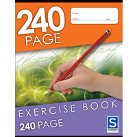 GNS Exercise Book 225x175mm 8mm Ruled 240 Page - 5 Pack