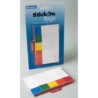 Bantex Index Flags Stick On 25x76mm 5 Colours - 250 Pack