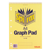 10 X Spirax  No.582 A4 Graph Book 2mm Grids 30 Sheet