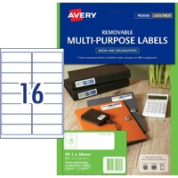 Avery L7162rev Laser Label Address 16 Per Page 25 Pack  - 959048