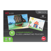 GBC A3 Laminating Pouches Signature 80mic - 100 Pack