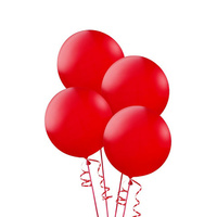 Alpen 25cm Round Balloons Pack 15  - Red
