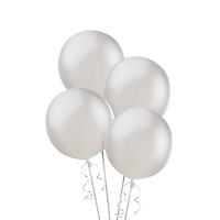 Alpen 25cm Round Balloons Pack 15  - Silver