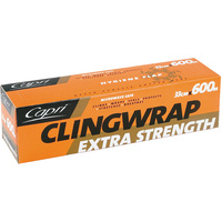 Capri Cling Wrap Wrapping Plastic 330mm x 600m - 10.5 Micron