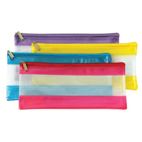 Sovereign Pencil Case PVC Mesh With Zip Small - Assorted Colours