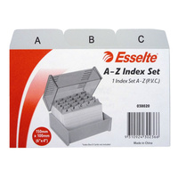 Esselte A-Z Indexed System Cards 6x4 PVC - Grey