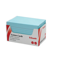 "Esselte Ruled System Cards Index Cards 6 X 4""  300/Pack - Blue"