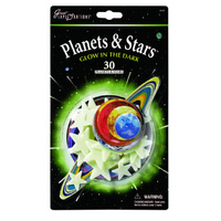 Great Exploration Glow Colourful Planets & Stars - 30 Pack