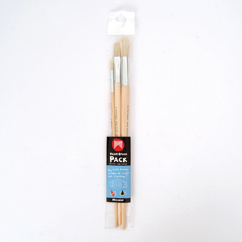 Micador Roymac 1600 Series Paint Brushes - Pack 3