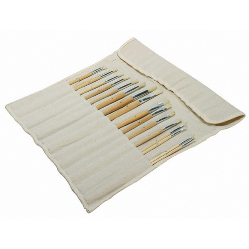 Jasart Paint Brush Bundle Set 18 Plus Canvas Holder
