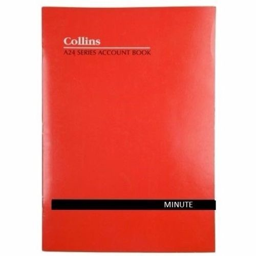 Collins A24 A4 Series Analysis Book Minute - 10232