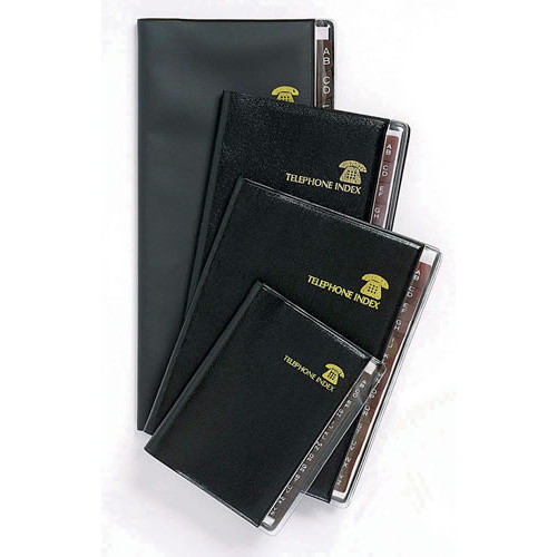 Cumberland Index Address Book Executive 140x115mm Fk54BE - Black