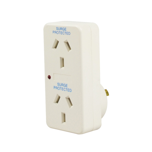 Italplast Power Double Adaptor With Surge Protected and LED Light