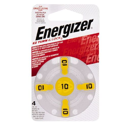 Energizer Hearing Aid Battery Batteries AZ10E4 - 4 Pack