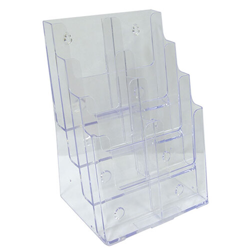 Deflecto DL 8 Pocket 4 Tier Brochure Holder 77451 - Clear