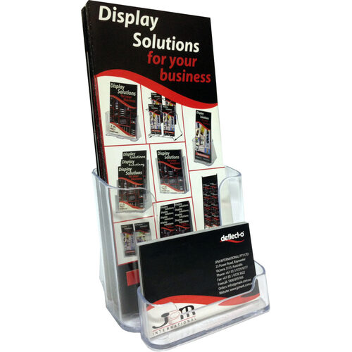Deflecto DL Portrait Brochure Holder With Business Card 77601 – Clear