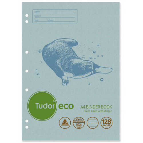Tudor Binder Book A4 Eco 100% Recycled 128 Page 10 Pack