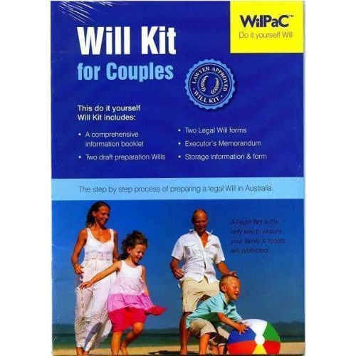 Wilpac Will kit DIY Legal Will Kit for Couples RRP $29.95