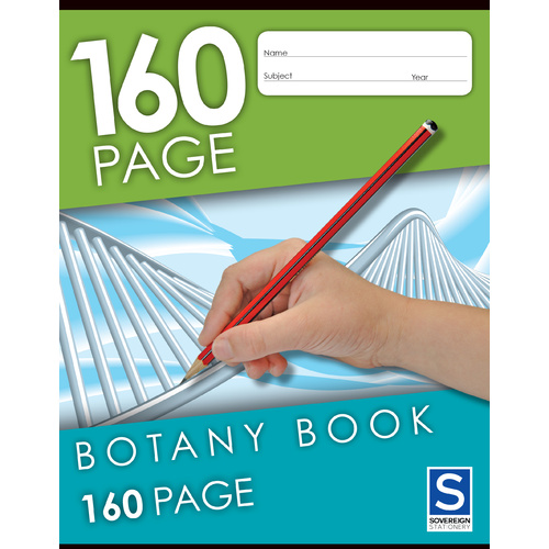 Sovereign Botany Book 8mm Botany 160 Page - 10 Pack