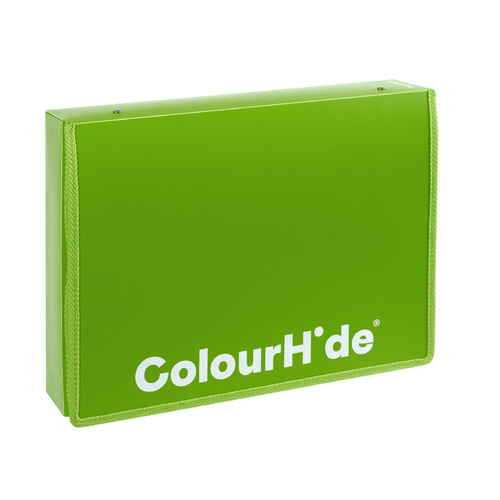 Colourhide Box File A4/Foolscap With Zipper - Green