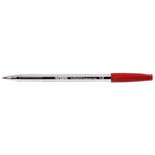 Artline 1mm Smoove Ball Point Pen Red - 20 Pack