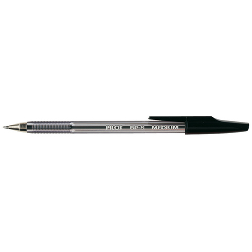 Pilot Ballpoint Pen Medium BP.S Black - 12 Pack