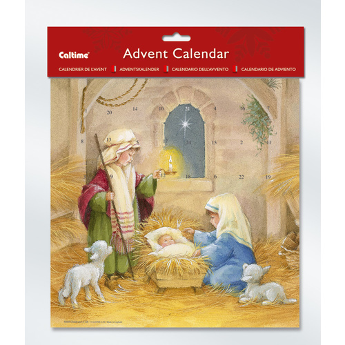 Christmas Advent Calendar Children's Crib 280 x 280mm