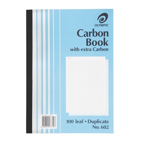 Olympic 602  Carbon Book A4 Duplicate 100 Pages