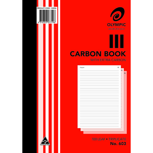 Olympic 603 Carbon Book A4 Triplicate 100 Pages