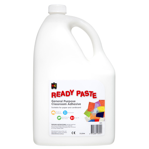 EC Ready Paste General Purpose Classroom Adhesive Craft Glue  - 5 Litre