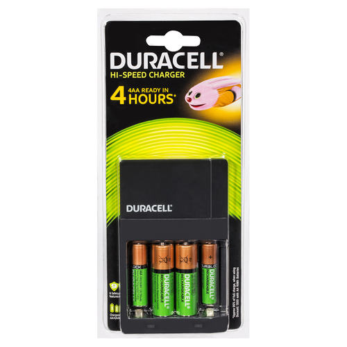 Duracell Battery Charger Rechargable Batteries  CEF14 AA & AAA