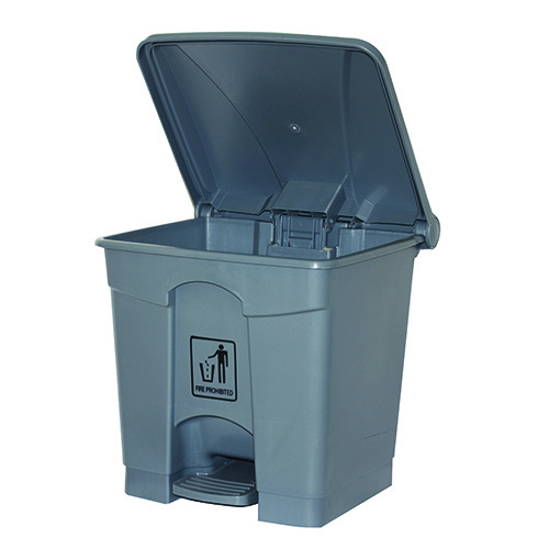 Cleanlink Rubbish Bin 68L With Pedal Lid - Grey