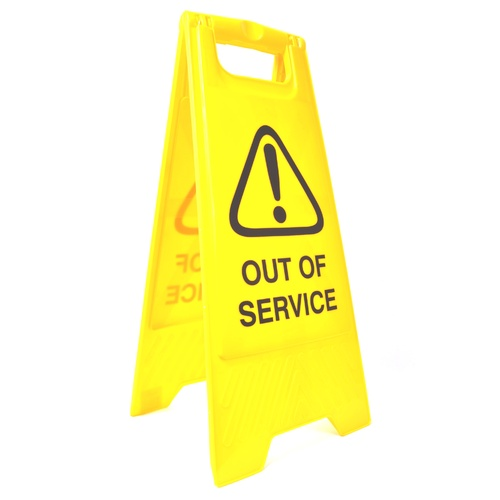"Cleanlink Safety Sign ""Out Of Service"" - Yellow"