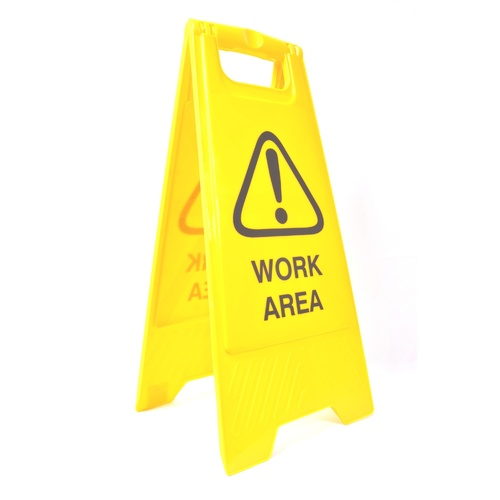 "Cleanlink Safety Sign ""Work Area"" - Yellow"