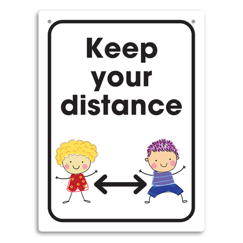Durus Keep Your Distance Wall Sign 225 x 300mm