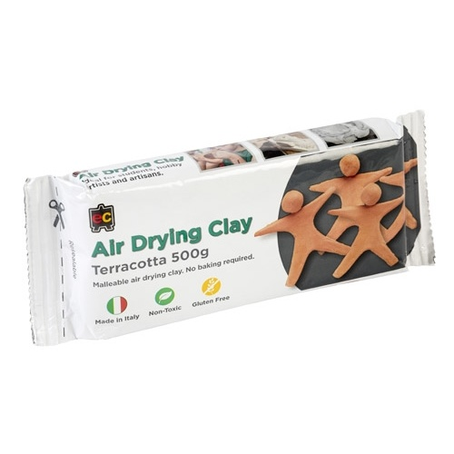 Educational Colours EC Air Drying Modelling Clay Terracotta Air Drying  - 500g