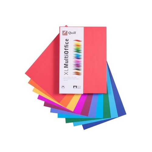Quill A4 Copy Paper 80gsm 500 Sheets - Hot + Cold Assorted Colours