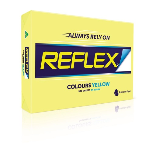 Reflex A4 Copy Paper 80gsm 500 Sheets - Yellow
