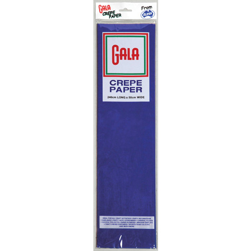 Alpen Gala 240 x 50cm Crepe Paper 12 Pack - National Blue