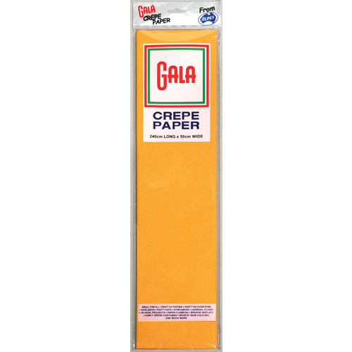 Alpen Gala 240 x 50cm Crepe Paper 12 Pack - Honey Yellow