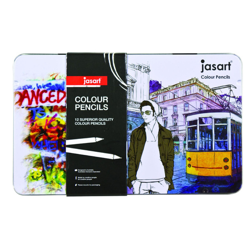 Jasart Pencil Coloured Colour Pencil Designer -12 Pack