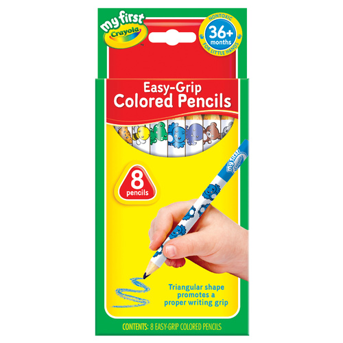 Crayola My First Easy Grip Coloured Pencils - 8 Pack