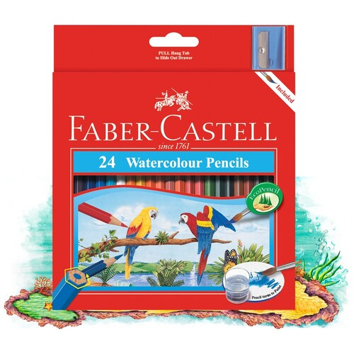 Faber Castell Watercolour Pencils -24 Pack