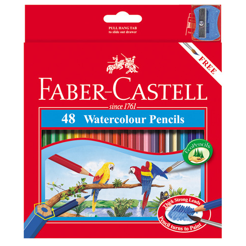 Faber Castell Watercolour Pencils - 48 Pack