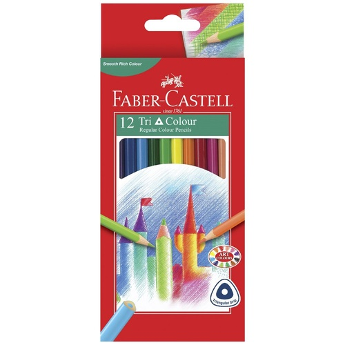 Faber-Castell Triangular Colour Pencils - 12 Pack