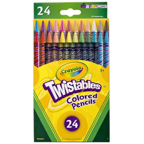 Crayola  Twistable Coloured Pencil - 24 Pack